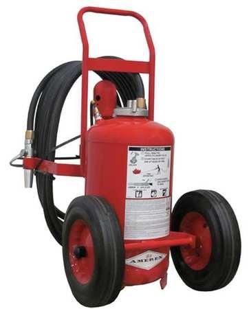 Wheeled Fire Extinguisher, 125 lb., 50 ft. (Extinguisher Wheeled Fire)