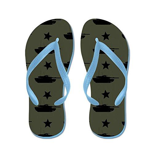 Cafepress M1 Abrams Patroon (militair Groen) - Flip Flops, Grappige String Sandalen, Strand Sandalen Caribbean Blue