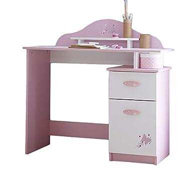Kinderschreibtisch weiß holz  Schreibtisch rosa/weiß Holz Mädchen Computertisch Kinderschreibtisch  Jugendschreibtisch Bürotisch Kinderzimmer Jugendzimmer