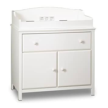 Bon South Shore Furniture Cotton Candy Collection Changing Table, Pure White