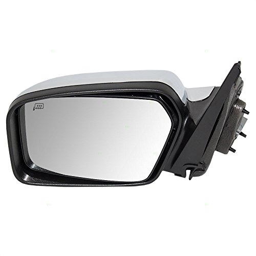 Drivers Power Side View Mirror Heated Memory Puddle Lamp Black Base w/ Chrome Cover Replacement for Lincoln - Lamp Base Mirror