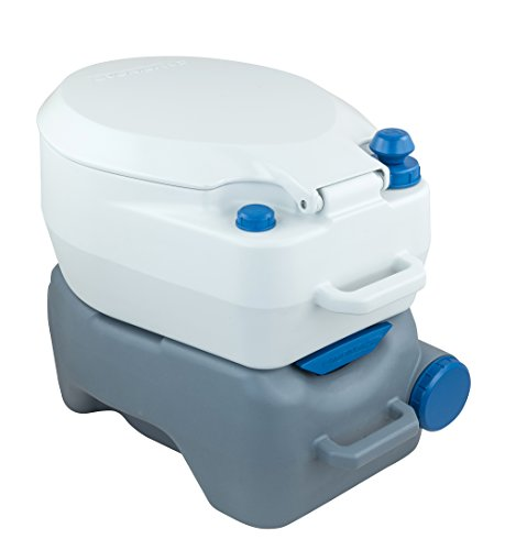 41Q4oBL5RsL Campingaz Campingtoilette, Chemietoilette, chemische Toilette mit antimikrobiellem WC-Sitz und Schüssel & Instapink 1…