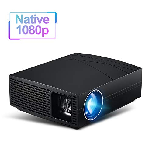 """Native 1080P HD Video Beam, 800 ANSI [5,000 LUX] Lumen with Max 280"""" Projection Size Home Projector, Top Stereo Sound/HDMI/Digital SPDIF Ports for Entertainment Movie Games from Aero Snail"""