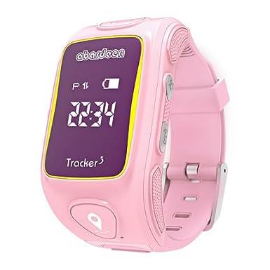 Reloj de pulsera inteligente Abardeen con GPS, GSM, para niños y niñas, rastreador de actividad, botón de llamada ...
