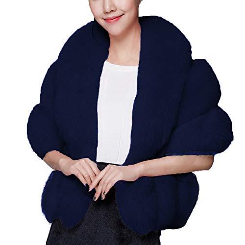 Caracilia Womens Thicken Faux Fur Wrap Shawls Warm Poncho Jackets zangqing2 CA89