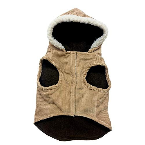 Outdoor Dog Toggle Corduroy Dog Coat - Camel (6 Pack)