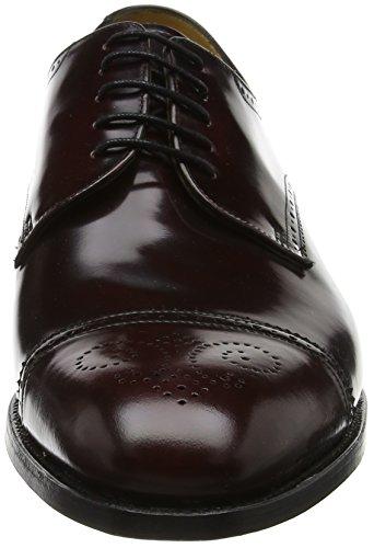 Morado Cordones shine Derby de Burgundy Hi Perth Zapatos 77 para Barker Hombre gHwt0t