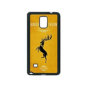 Game Of Thrones - House Baratheon ~ Fashion Durable Unique RUBBER Durable Case Cover Skin for Samsung Galaxy Note 4 - Black Silicone Case. ABCone Tpu Protective Note 4 Case