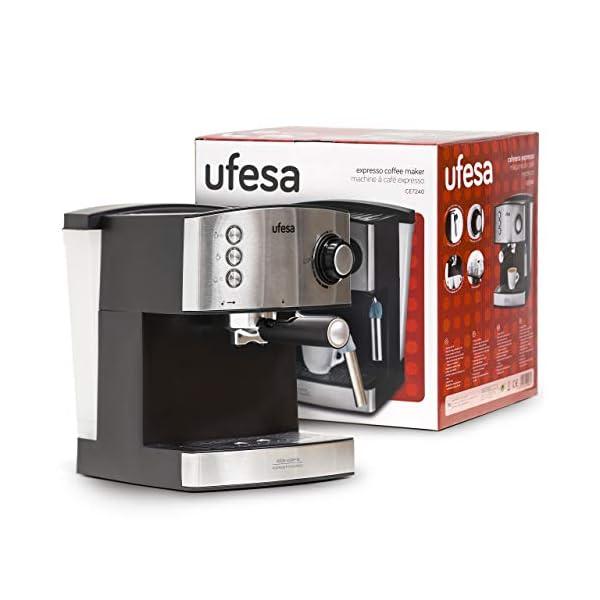 Ufesa CE7240 Macchina caffè espresso, 850 W, Serbatoio estraibile da 1,6 L, 20 bar, 2 opzioni d'uso: Come macchina da… 2