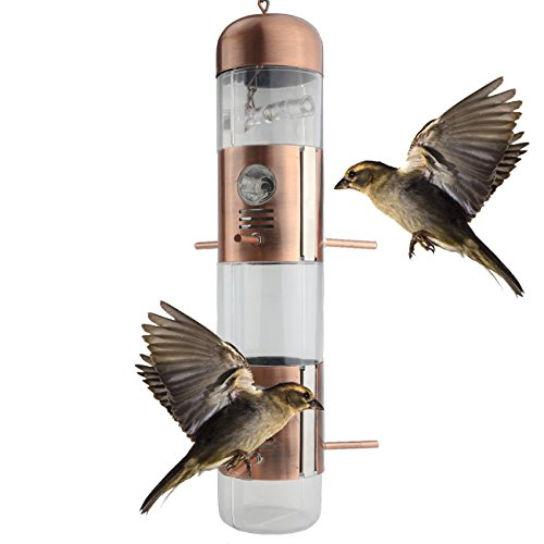 Ogrmar Hanging Perky-Pet Gazebo Wild Bird Feeder -Perfect for Garden Decoration and Bird Watching for Bird Lover and Kids (Hanging Bird Decoration)