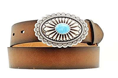 Ariat Women's Distinctive Oval with Turquoise Belt,Brown,S