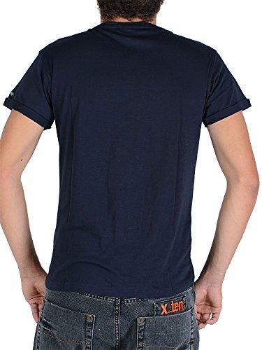 Soul Star - T-shirt - shortsleeve - dunkelblau mit Print Revolution-L