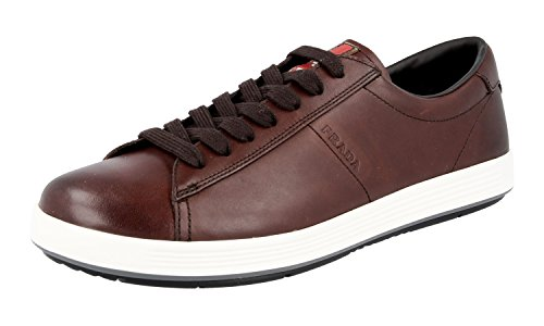 Prada Men's 4E2860 OLV F0192 Sneaker Leather Sneaker F0192 B07B2XYQ1M Shoes 386d17