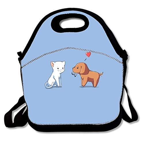 Neoprene Lunch Bag Tote Reusable Insulated Waterproof School Picnic Carrying Lunchbox Container Organizer For Men, Women, Adults, Kids, Girls, Boys - cool youtube channel art