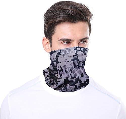 Skull Face Mask Cycling Bandana for Dust Headband Magic Scarf Head Wrap Neck Warmer
