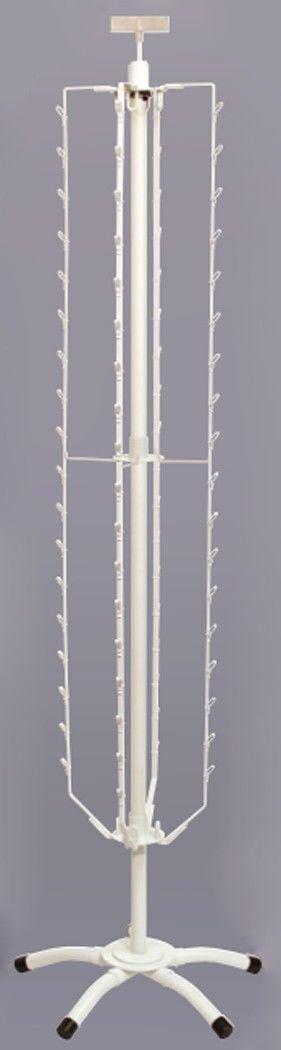Snack Bag Jerkey Clipper Floor Rack 72 Clip Spinning Retail Display Merchandise Fixture White NEW