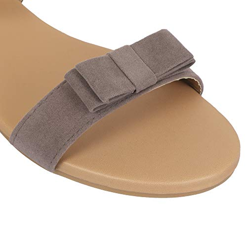 BK DREAM Women Flat Sandals with Ankle Strap