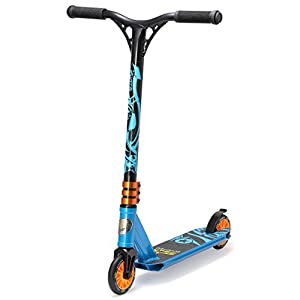 STAR-SCOOTER® Original Pro Sport Complete Leight Weight MINI Stunt Scooter for Adults, Teenager and for Kids over 5 years | For Beginners up to Advanced Skill Riders with Wheels 110mm | Action Blue