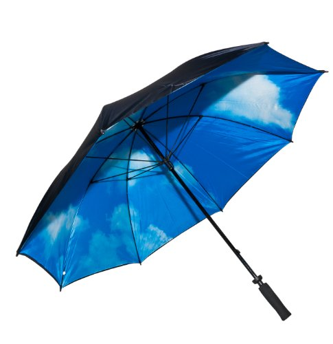 Elite Rain Adult Golf Umbrella Sky Print Inside
