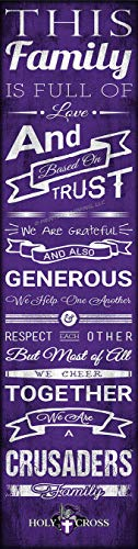 (Prints Charming College Family Cheer College Holy Cross Crusaders 6x22 Unframed Poster )