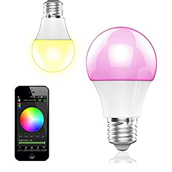 Finest Bohmain Magic Dimmbare Led Glhlampe E Fassung Lumen Rgb Birne Mit  Bluetooth Ambiente Beleuchtung With Dimmbare Led