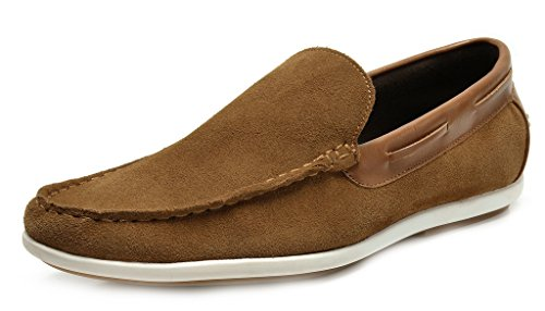 BRUNO MARC NEW YORK Bruno Marc Men's Kilin-01 Tan Driving Loafers Moccasins Shoes - 12 M US