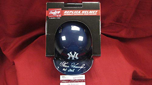 (Goose Gossage Autographed Signed Ny Yankees Mini Batting Helmet with Hof 2008 JSA Wp)