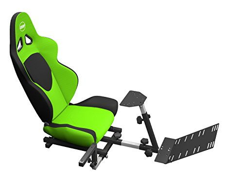 OpenWheeler Advanced Racing Seat Driving Simulator Gaming Chair with Gear Shifter Mount, Green
