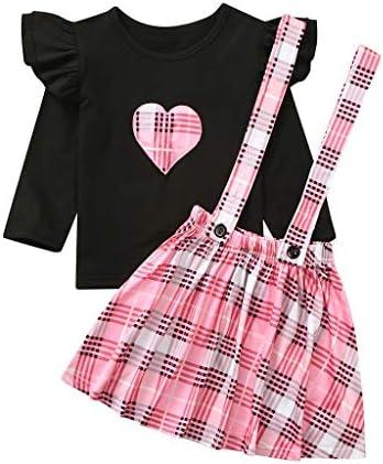 [해외]2Pcs Toddler Baby Girl Infant Plaid Casual T Shirts Overall Suspender Skirt Set Princess Cotton Girl Clothes Outfits / 2Pcs Toddler Baby Girl Infant Plaid Casual T Shirts Overall Suspender Skirt Set Princess Cotton Girl Clothes Out...