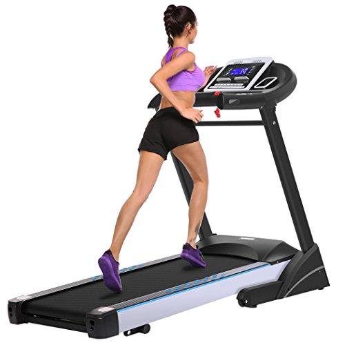 Asatr Folding Electric Treadmill Running Jogging Machine Home Gym Workout Fitness Machine US Plug (US Stock)