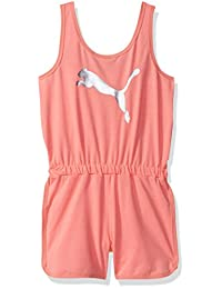 PUMA Girls Girls' Big Cat Logo Romper Rompers