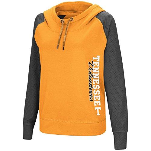 ( Colosseum Women's NCAA-TNT Funnel Neck Hoodie Pullover Sweatshirt-Tennessee Volunteers-Orange-Large )