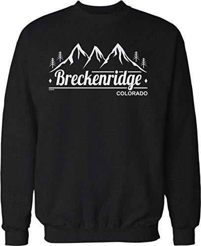 Colorado Crew Sweatshirt - NOFO Clothing Co Breckenridge, Colorado Crew Neck Sweatshirt, M Black