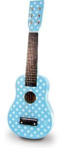 Vilac 8328 - Guitarra de juguete, diseño de lunares, color azul claro