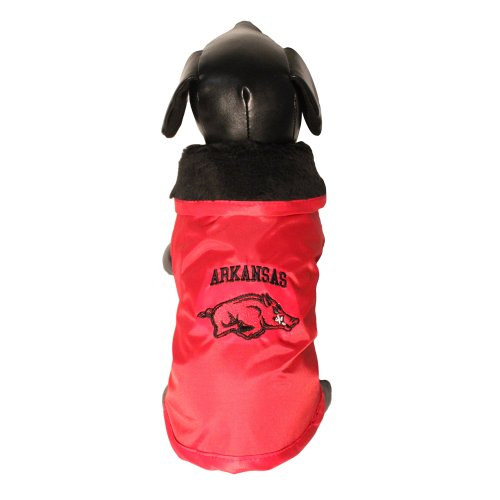 NCAA Arkansas Razorbacks All Weather Resistant Protective Dog Outerwear, Large, My Pet Supplies