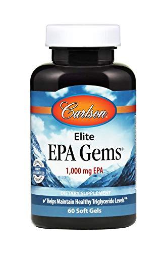 Carlson Elite EPA Gems, 1,000 mg EPA, 60 Soft Gels