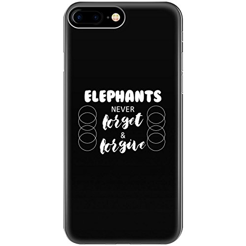 Elephants Never Forget And Forgive Design Describe Nature - Phone Case Fits Iphone 6 6s 7 8