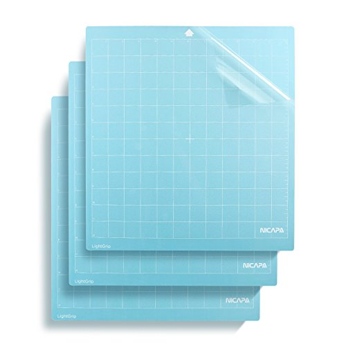 Nicapa Light Adhesive Replacement Cutting Mat for Silhouette,12 by 12-Inch (3 Pack)