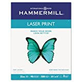 Laser Print Office Paper, 98 Brightness, 32lb, 8-1/2 x 11, White, 500 Sheets/RM, Total 8 RM