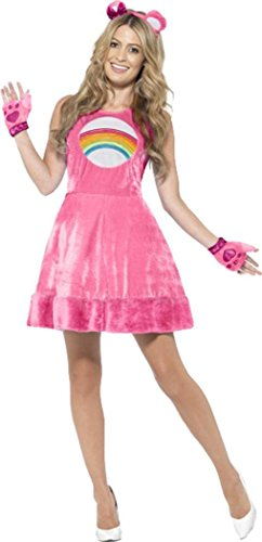Care Bears Cheer Bear Costume Pink Uk Dress 12-14 (Adult Care Bears Cheer Bear Costume)