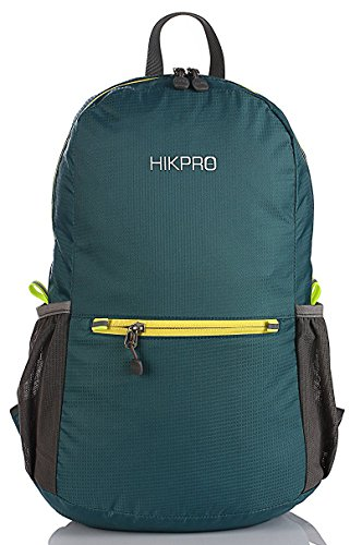 Durable Lightweight Packable Backpack, Water Resistant Travel Hiking Daypack For Men & Women