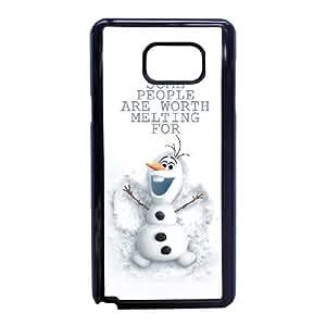 Olaf caso congelado W1C39P5LT funda Samsung Galaxy Note 5 funda H5YE0Y negro