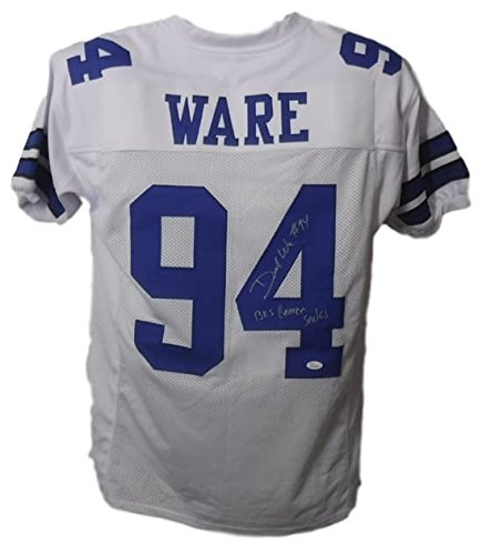 Demarcus Ware Autographed Dallas Cowboys White XL Jersey ...