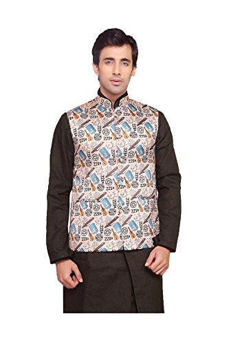 Da Facioun Indian Mens Jacket Wedding Designer Party Wear Bhej Satin Waist Coat. by Da Facioun