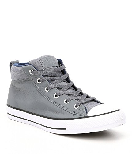 Converse Chuck Taylor All Star Street Mid Adult Unisex Cool Grey/Midnight Navy (9 D US) Converse All Star Collection