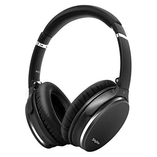 chollos oferta descuentos barato Plegable Auriculares Inalámbricos con Cancelación de Ruido Bluetooth 5 0 Srhythm NC35 ANC Over Ear con Tipo C Carga Rápida CVC8 0 Mic Llamada de Voz Mega Bass 40 Horas de Tiempo de Juego Gun Negro