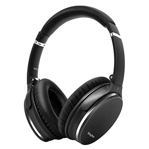 Noise Cancelling Kopfhörer,Leicht,Faltbar,Kabellos mit Bluetooth 5.0,Srhythm NC35 Over-Ear,Typ-C Schnellladung,CVC8.0-Mikrofon,Sprachanruf,40+ Stunden Spielzeit für iOS Android TV PC(Gun Schwarz)