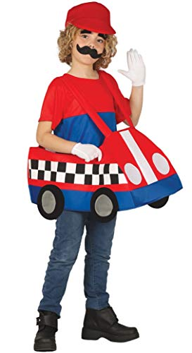 Girls Boys Mario Kart Cartoon Gaming Halloween World Book Day Fancy Dress Costume Outfit 5-12 years (10-12 years) -