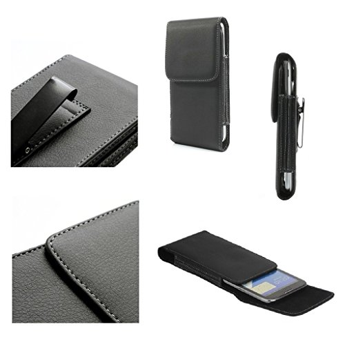 "DFV mobile - Leather Flip Belt Clip Metal Case Holster Vertical for =>     APPLE iPhone 6s / [4,7""] > Black"