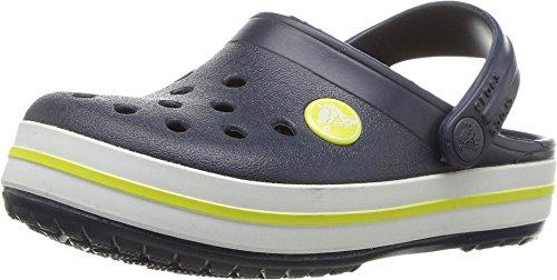 Price comparison product image Crocs Kids' Crocband Clog, navy / citrus, 5 M US Big Kid